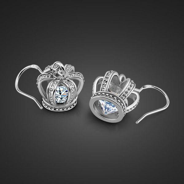 Charm Cross Pendant 925 Sterling Silver Earring exquisite zircon Women Fashion Designer Jewlery Valentine's Day