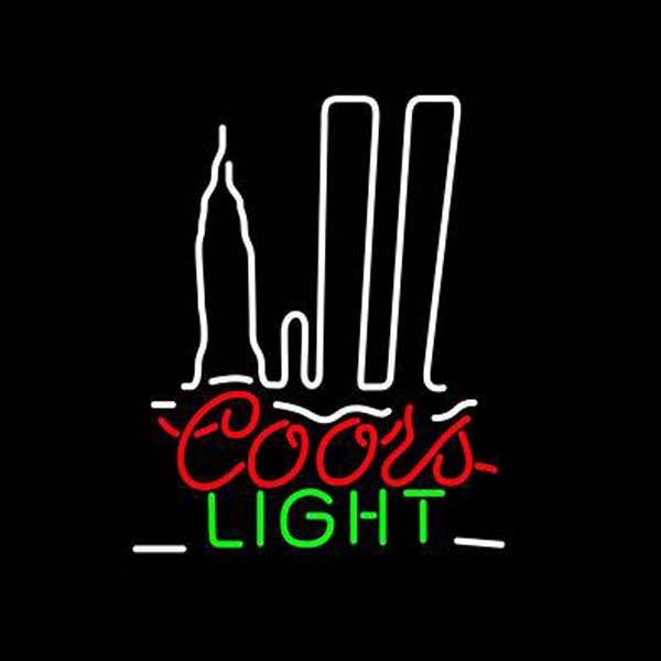"Coors Light Sliver Bullet Neon Sign Custom Hand-crafted Real Glass Tube Shop Store Beer Bar KTV Club Motel Display Neon Signs 15""X19"""