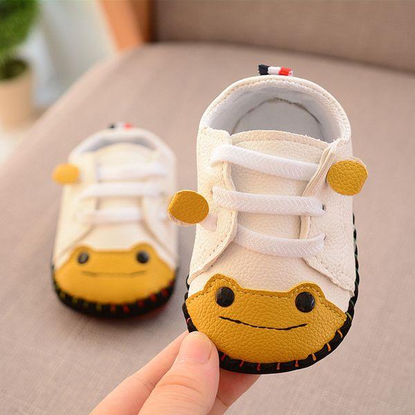 53395437 Baby Shoes 2018 Autumn Cartoon Frog Sewing Boys First Walkers Toddler Girl  Casual Sneakers Kids Prewalker