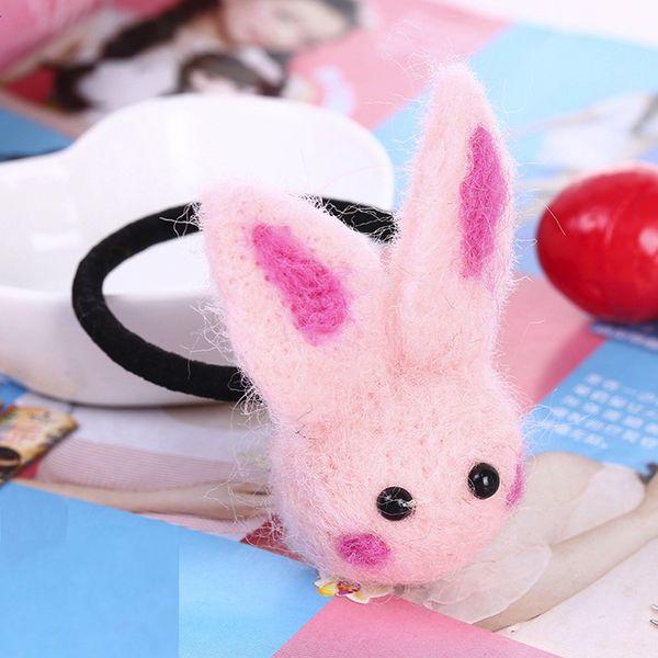Children Girls Handmade Wool Felt Cartoon Hair Ring Hair Rope Accessories 9.10
