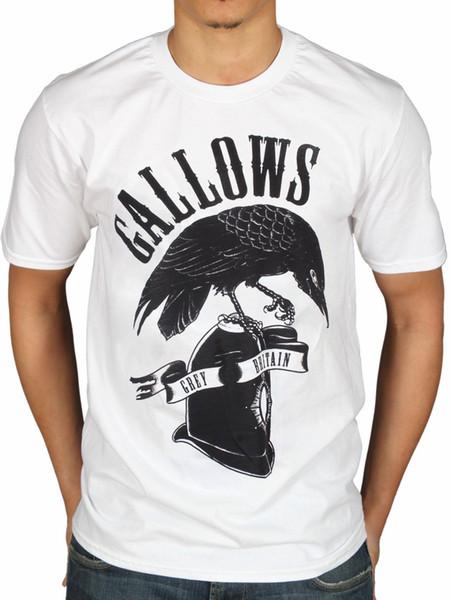 Gallows Oficial Gris Bretagne T-Shirt Mort Naissance Orquestra Loups 100% Algodão de Manga Curta O-pescoço Camiseta Top Tee Básico