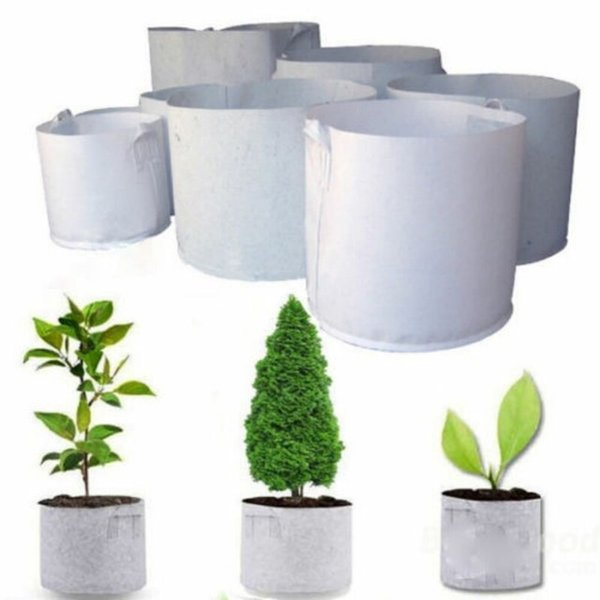 10 Sizes Non-Woven Fabric Flower Pots with Handles Planting Bag for Seeds Grow Tents Garden Decor Greenhouse Fairy Garden Miniatures