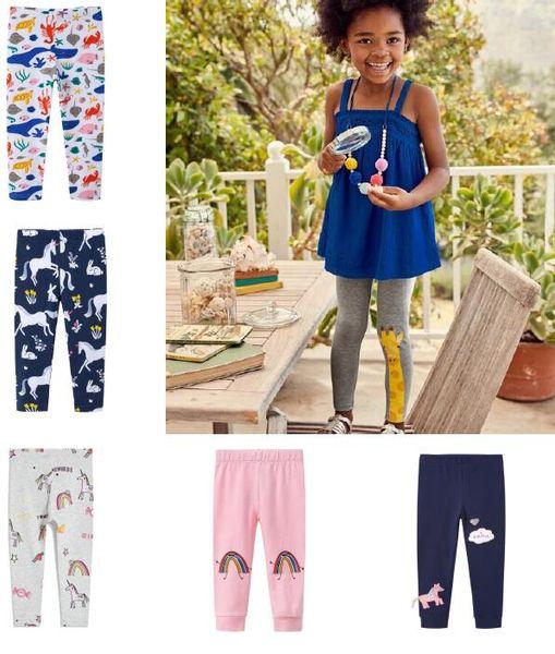 Kızlar için Tozluk Yeni Bebek Tayt Kız Pantolon% 100% Pamuk Karakter Baskı Çocuk Pantolon Sıska Pantolon 6 Renkler çocuk giyim BY0256