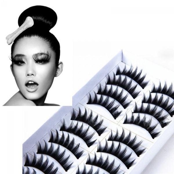 High Quality 10 Pairs Handmade Fake Eye Lashes Natural Long Thick False Eyelashes EP Hot New Arrival