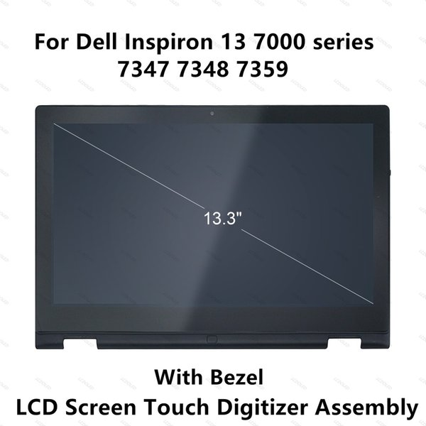 For Inspiron 13 7000 series 7347 7348 7359 P57G 11118178082 LCD Display Touch Screen Glass Panel Digitizer Assembly+Frame