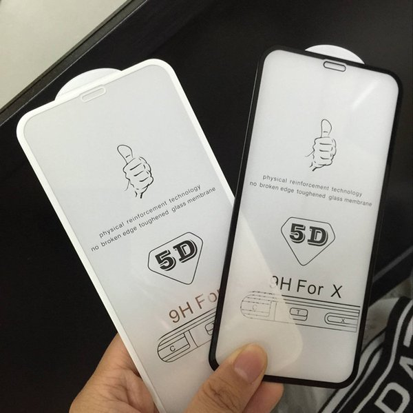 Kavisli ekran koruyucusu iphone x xs max xr 8 7 6 artı 5d kenar tam kapak filmi iphone 6s 7 artı temperli cam filmi