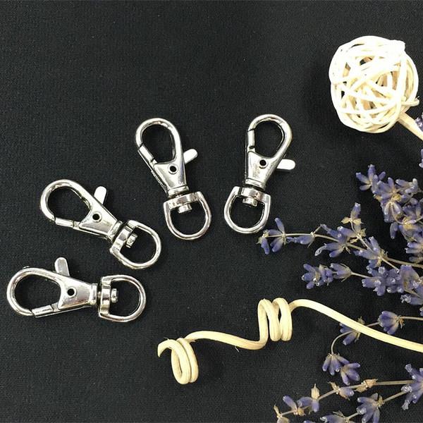 Retro Keychain Kleine Metall Karabiner Swivel Schließe Clips Snap Buckle Haken Handtasche Hardware Keychain Anhänger Zubehör Schmuck Schnalle H4F