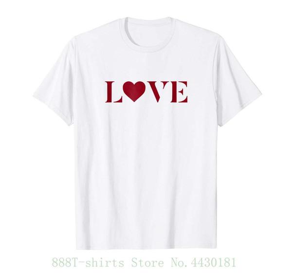 T das mulheres Ggt | Estêncil vermelho Amor Coração Simples Coração Amor Tshirt Punk Femme Marca de Moda Hipster Top Magro