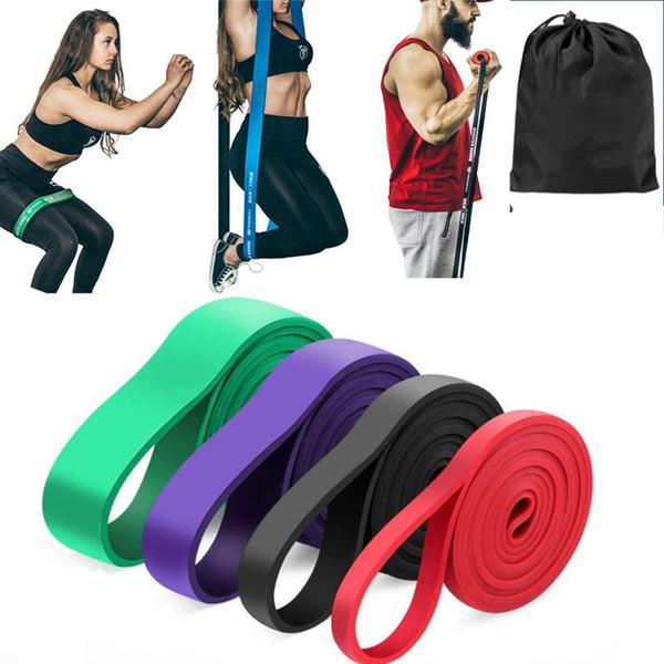 Resistance Band Exercício Elastic Band Workout Ruber Loop Crossfit Força Pilates Equipamento de Fitness Formação Expansor Unisex