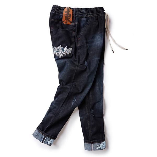 2018 Men Denim Harem Pants Plus Size M-6XL 7XL 8XL Pants Male Hip-hop Jeans Men Skinny Demin Trousers Man Loose