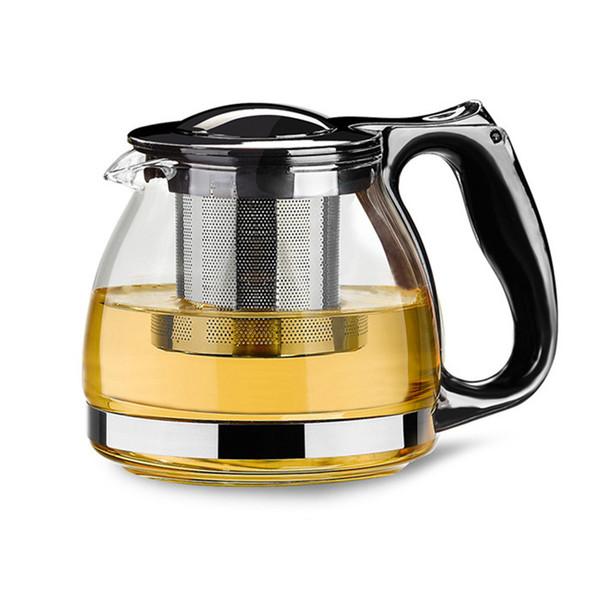 Handgemachte Teekanne mit Filter Hitzebeständigem Glas Teekanne Infuser Edelstahl Wasserkocher Großhandel Teekannen Drinkware 800ml