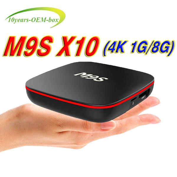Factory M9S X10 TV BOX Android 7.1 Quad Core Rockchip RK3229 Internet 4K 1GB 8GB WiFi 4K 3D Google Media Player Better S905W X96 Mini