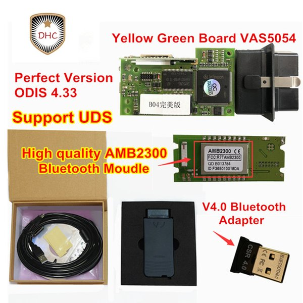 top popular 2018 Newest Full Chip VAS 5054A +OKI chip +More Stable Bluetooth AMB2300 Moudle vas 5054A ODIS 4.33 Support UDS Protocol 2019