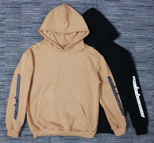 hiphop streetwear urban clothing Loose Fit Hooded Sweatshirt kanye west Ins Calabasas US SIZE oversized pullover Hoodie Men Women