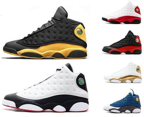High Quality 13 Bred Chicago Flint mens women basketball shoes 13s He Got Game Melo DMP Grey Toe Hyper Royal Sneakers