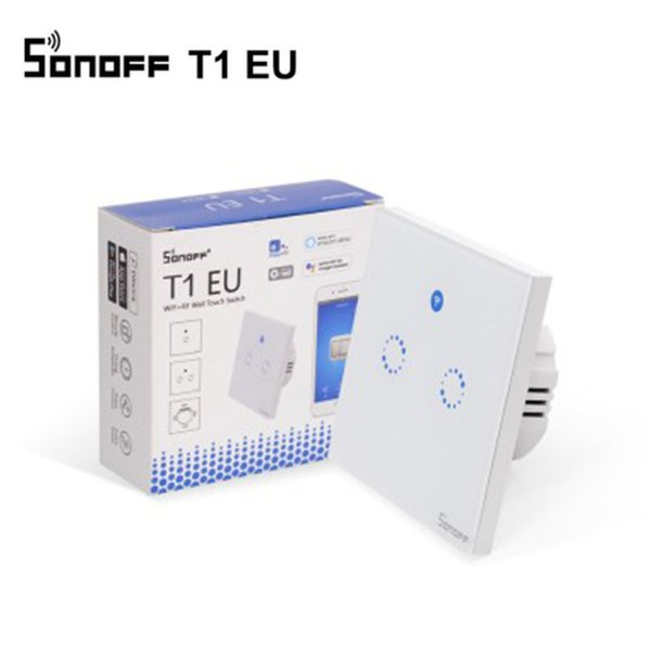 Sonoff Touch EU Wifi Wall Touch Switch 1 Gang 2 Gang Wireless Remote Light Relay App Control Work With Alexa