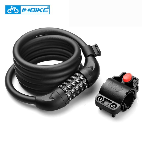 Bike Lock 1.8m 1.4m Bicycle Cable Lock Anti-theft with 3 Keys Cycling Password Security Steel Wire Coded Locks
