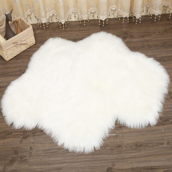 2012018 nouvelle fleur nuage forme en peau de mouton tapis chaise couverture chambre tapis en simili cuir chaud poilu tapis tapis zone de fourrure