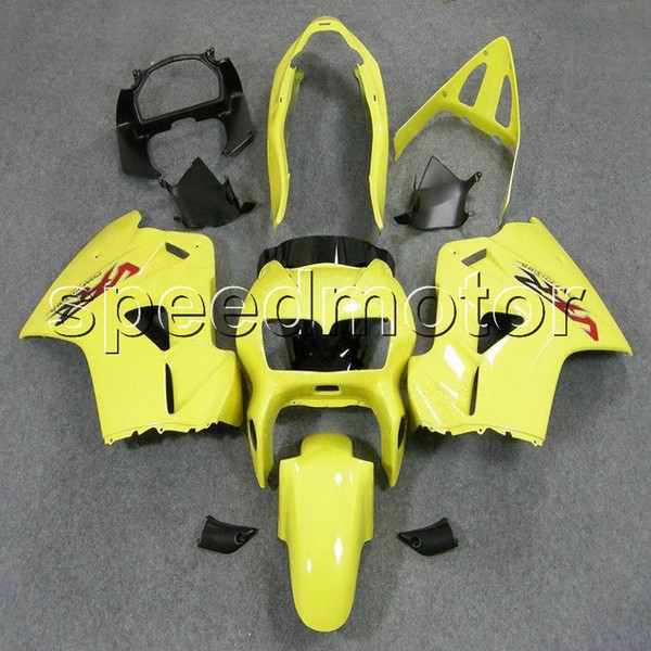 colors+Gifts yellow 98-01 VFR 800 motorcycle cowl Fairing for HONDA VFR800 1998 1999 2000 2001 ABS plastic kit
