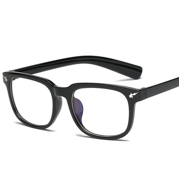 Óculos redondos SpectaclesTashionThickmetal quadro piloto espelho plano lentes transparentes ouro sier pode ser equipado