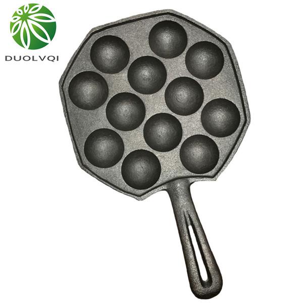 Duolvqi 12 Cavities Takoyaki Pan Takoyaki Maker Octopus Small Balls Baking Pan Home Cooking Tools Kitchenware Supplies