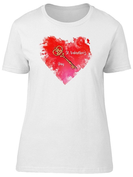 Heart Stain With A Key Women's Tee -Image by Shutterstock