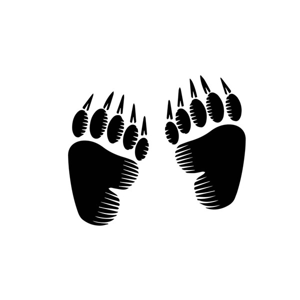 Bear Footprint Animal Foot Car Sticker Base Car Packaging Accessories Product User Pattern Personality