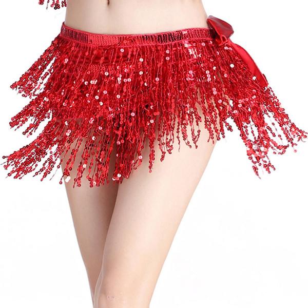 Sciarpa di danza del ventre Cintura di danza del ventre Cintura di paillettes Cintura di danza indiana con cintura a vita da donna