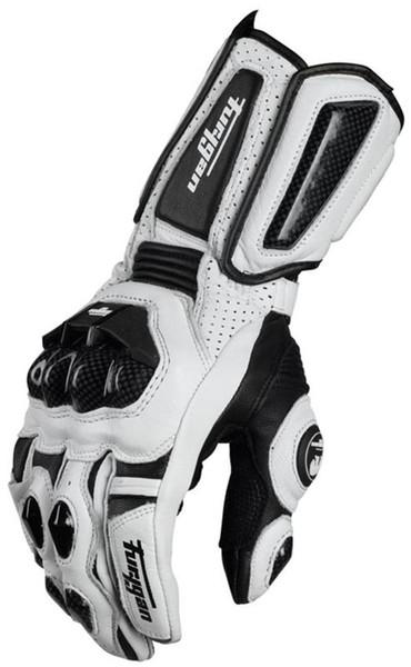 Ventas calientes Modelos frescos Fibra de carbono Furygan AFS10 guantes de moto guantes largos de carreras Cuero genuino Guantes de Moto