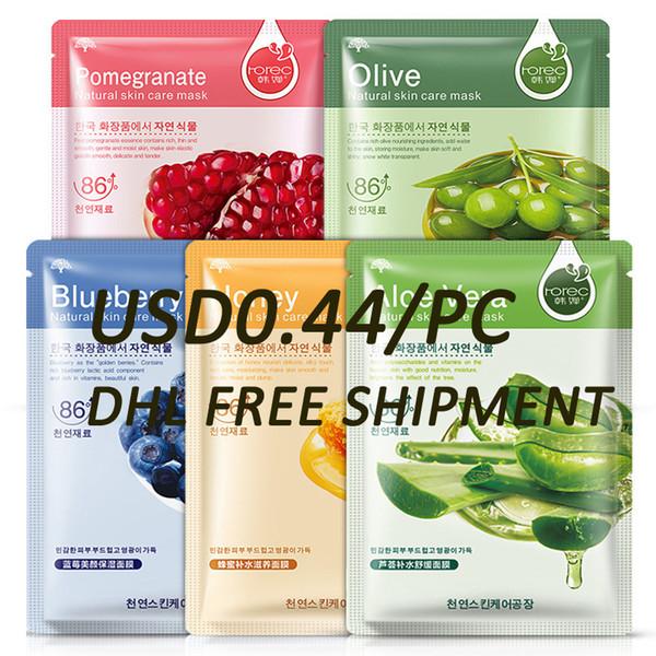 best selling BIOAQUA ROREC Moisturizer oil control Blackhead remover FACE Mask facial Blueberry Aloe Olive Honey Pomegranate Cucumber Plant Face Mask