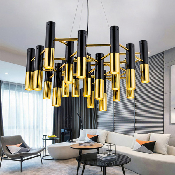 Mental Pipe Pendant Lights Modernled Pendant Lamp Kitchen Island Dining  Room Shop Bar Counter Decor Fixture Black Gold E022 628 Kitchen Island  Pendant ...