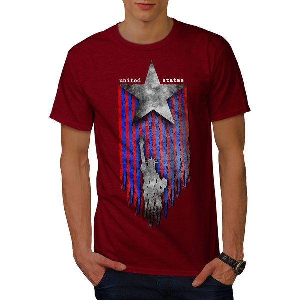 Camiseta para hombre de Wellcoda Estados Unidos, diseño gráfico de Star USA Camiseta estampada Camiseta de algodón Camiseta de moda Envío gratis