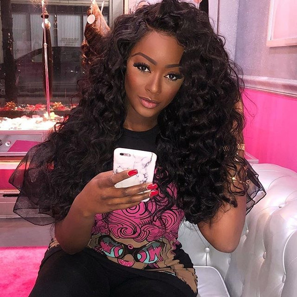 Best quality 2018 9a beautiful 100% unprocessed virgin remy human hair long natural color afro curly 2018 new full lace wig for women