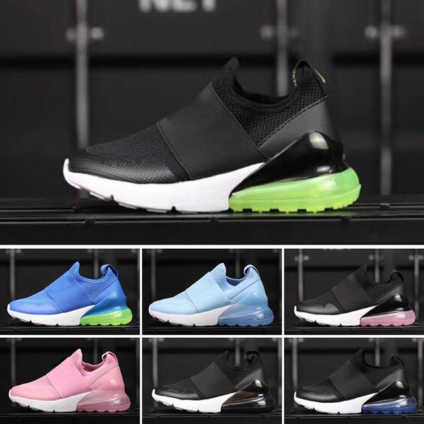 new concept 1292b a1ed2 Acheter Nike Air Max 27c Nouveaux Enfants 270 Chaussures Décontractées Pour  Enfants Bébés Garçons Filles 27C Coussin Noir Blanc Orange Vert Rose  Chaussures ...
