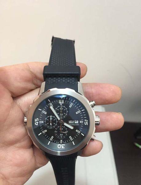 neueste Version IW Uhr New Top 1887 Prince Luxus Japanischer Quarz Chronograph 42mm Weißes Zifferblatt Royal IW Sport Herrenuhren