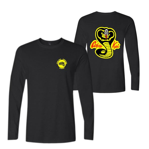 Cobra Kai T shirts Men Fashion Hot Sale Print T-shirt Lovely long sleeve Tee Shirts Mens Warm Autumn Tops and Tee