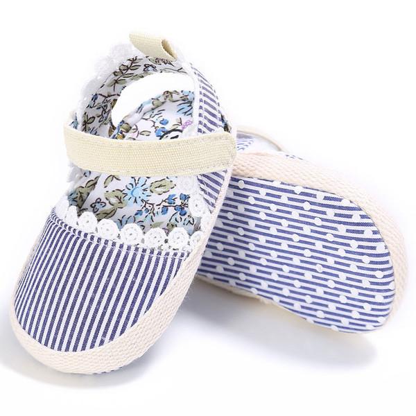 Newborn Toddler Baby Girls kids clothes casual cotton Geometry Soft Sole Crib Shoes Flower Prewalker Anti Slip Sandals one pairs