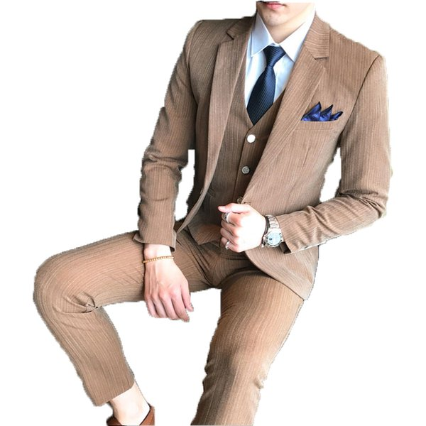 LEQEMAO Three Pieces Set Male Casual Leisure Modern Suits With Pants With Vest Floral Business Formal Wedding Suits For Men 4XL