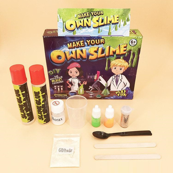 Slime Kit Make Your Own for Kids Play DIY Blowing Bubbles Fun Toys jelly clay Gloop Sensory Play Science Crystal Mud Water Beads