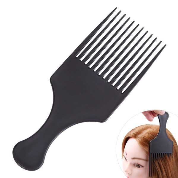 comb black 1Pcs Black Flat Wide Tooth Hair Comb for Hairstyling Dyeing Streaking Coloring Pigment Mixing Coating Pro Barber Brush Updo Tool