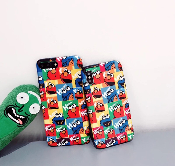 2019 new summer cartoon illustrations soft full-pack mobile phone case on Sesame Street-A popular trend for both men and women