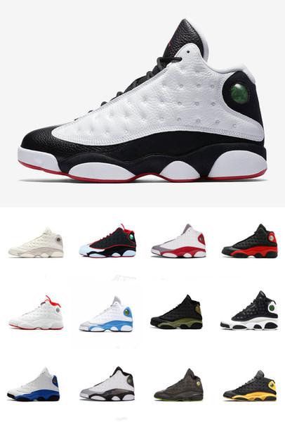 Chaussures de basket-ball pour homme 13 He Got Game film Noir blanc assorti chaussures de créateur de panda sport sneakers taille 41-47 avec boîte