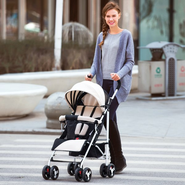 New Baby stroller Four Wheel Boarding Folding Children Stroller Baby Car Kid Carriage Buggy Pram 0-3 years