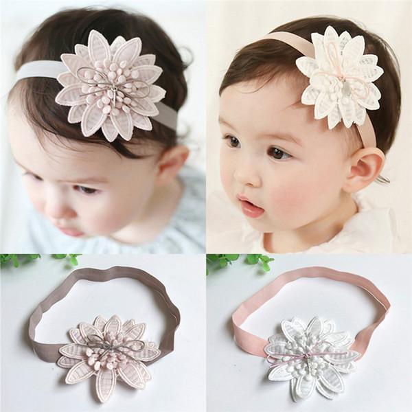 Mädchen Kopfschmuck Säugling Haarband Knoten Headware Baby-Feder-Stirnband