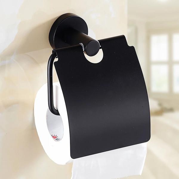 antique design stainless steel Bathroom toilet Paper Holders Wall Mount Roll Tissue Rack black Roll paper holder