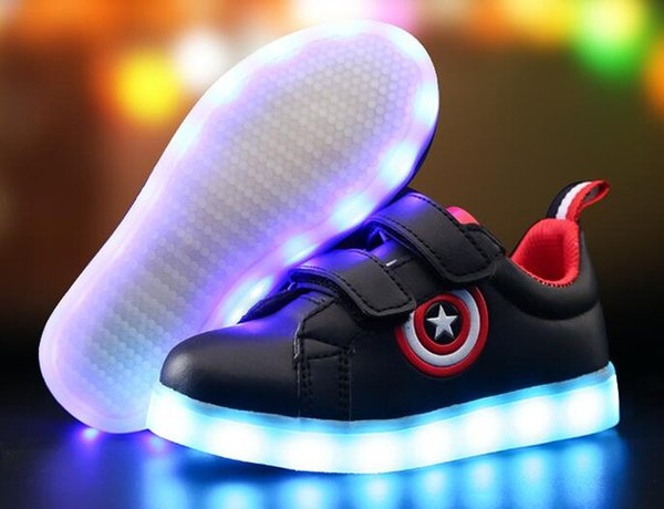 usb charge enfants chaussures baskets lumineuses chaussures boygril led pantoufles enfants allument chaussures led rougeoyantes baskets