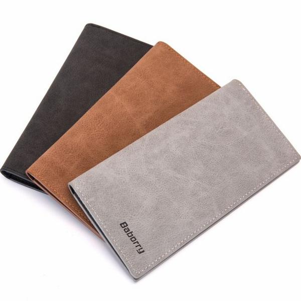 Brieftasche geldbörsen herren brieftaschen marke männlich dünne männer lange brieftaschen dünne brieftasche sommer stil 2018 3 farben