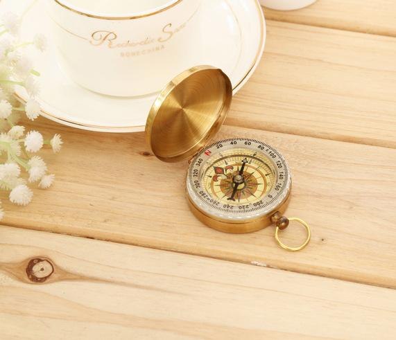 Retro Copper G50 Compass Pocket Watch Flip Multifunctional Cover Noctiluca Traditional Brass Metal Luminous Compass Pocket Antique Comping