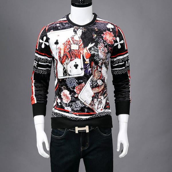 мода роскошный дизайнер страх перед Богом бархат печати 3D шею свитер Harajuku акула белый скейтборд хип-хоп толстовка