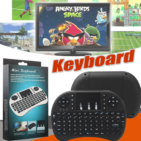 Mini Rii i8 Wireless Keyboard 2.4GHz Air Mouse Keyboard Multi-Media Remote Control Touchpad For Smart Android TV Box HTPC MXQ Pro M8S X96